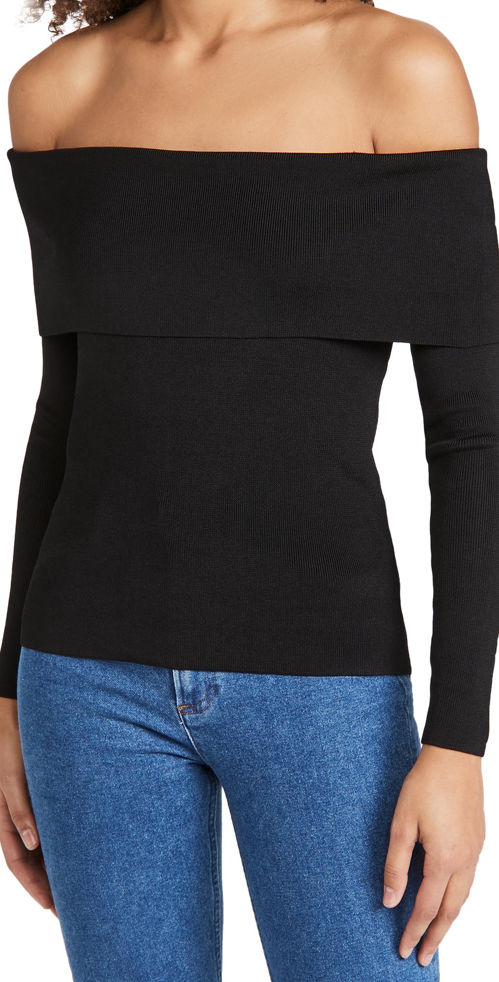 L'AGENCE Skye Off Shoulder Sweater