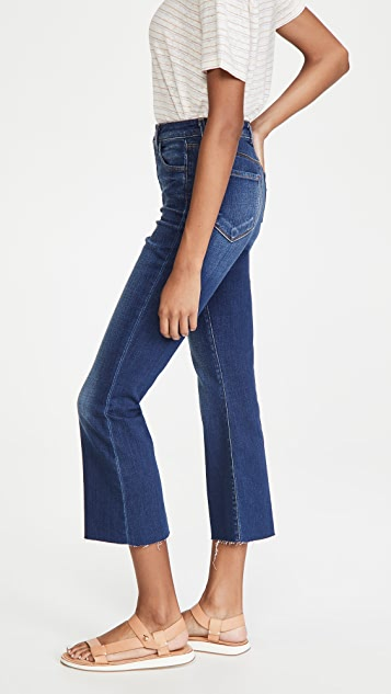 L'AGENCE Kendra 高腰中长喇叭牛仔裤