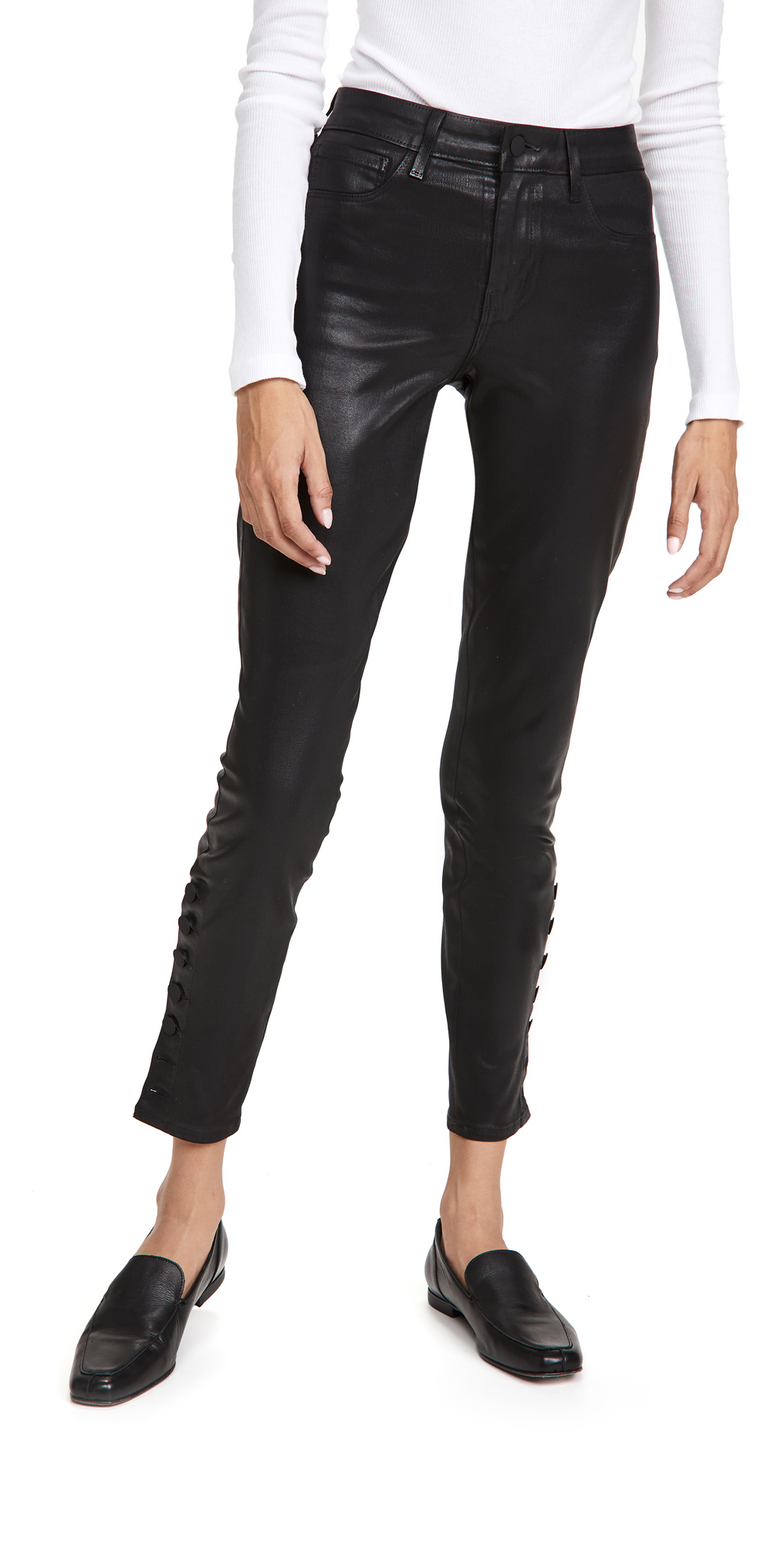 L'AGENCE Piper Skinny Coated Jeans