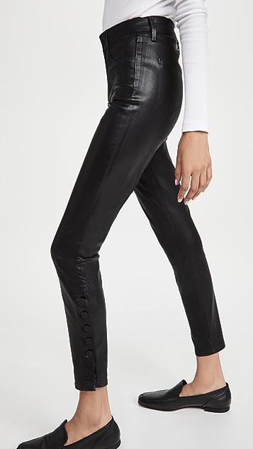 L'AGENCE Piper 涂层紧身牛仔裤