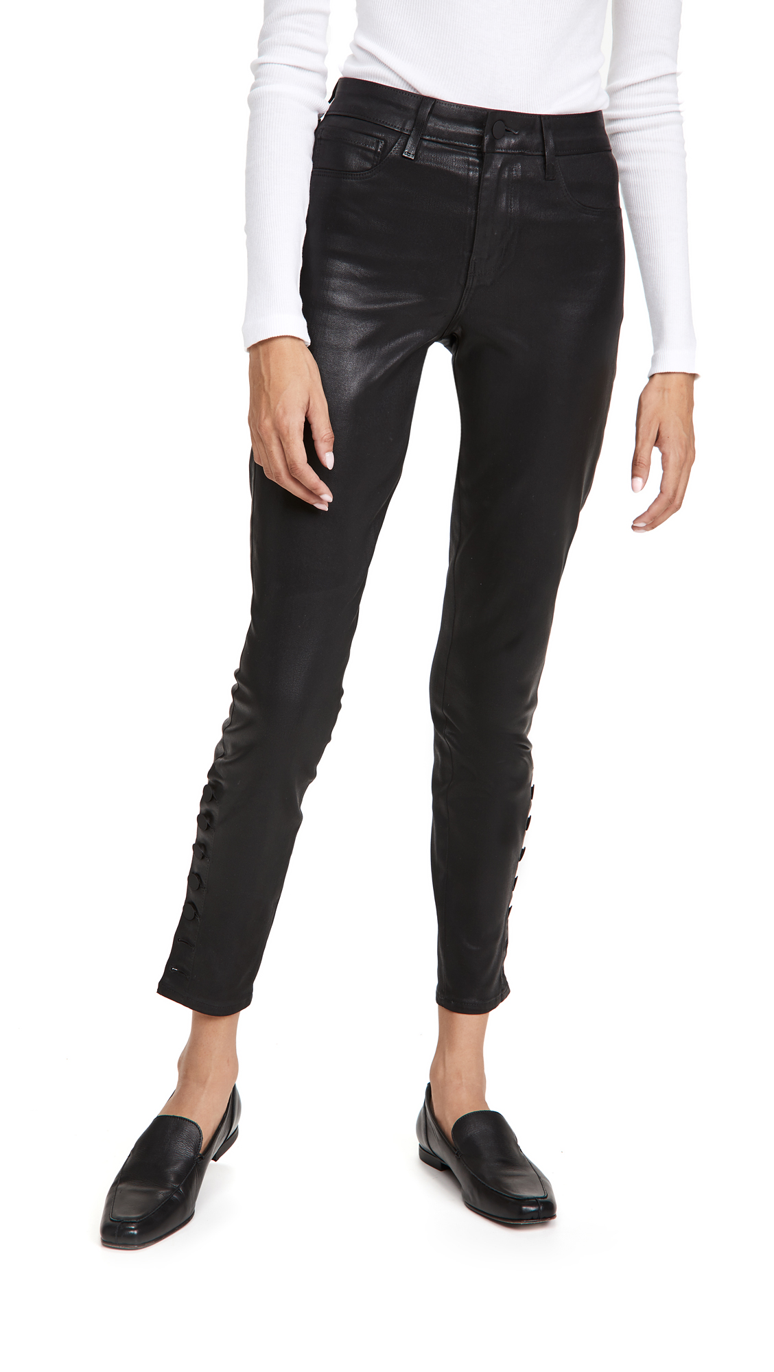 L AGENCE PIPER SKINNY COATED JEANS