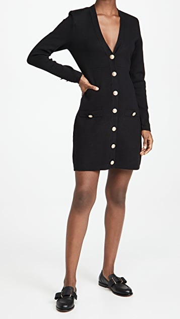 L'AGENCE Breanna V Neck Mini Dress