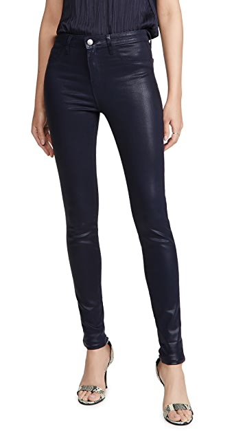 L'AGENCE Marguerite High Rise Coated Skinny Jeans