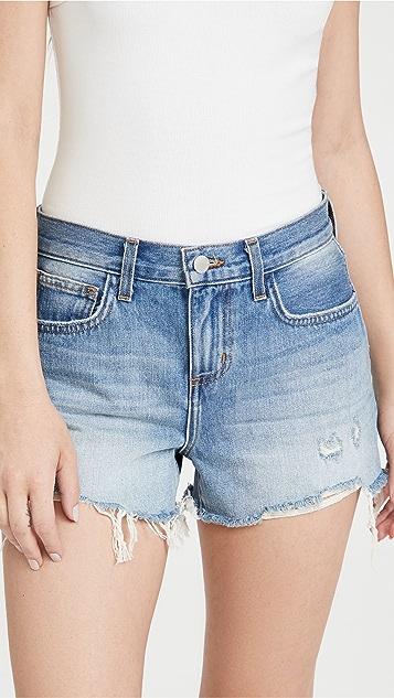 L'AGENCE Audrey Mid Rise Denim Shorts