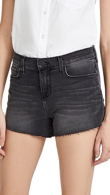 L'AGENCE Audrey M/R Shorts in Vintage Black Denim