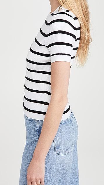 L'AGENCE Delphine 短袖毛衣