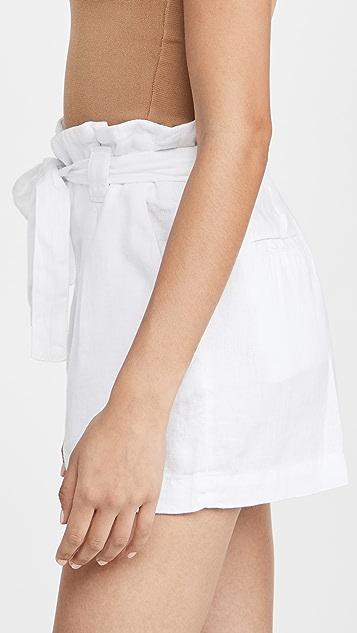L'AGENCE Hillary Paperbag Shorts