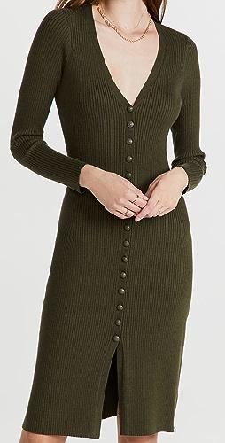L'AGENCE - Maci Button Duster Cardigan Dress