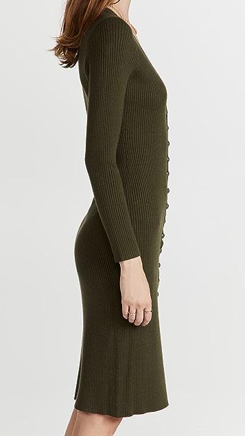 L'AGENCE Maci Button Duster Cardigan Dress