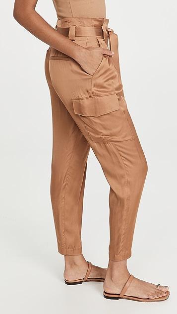 L'AGENCE Roxy Paperbag Cargo Pants