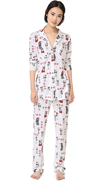 Love+Grace Kittens and Puppies Cassie PJ Set
