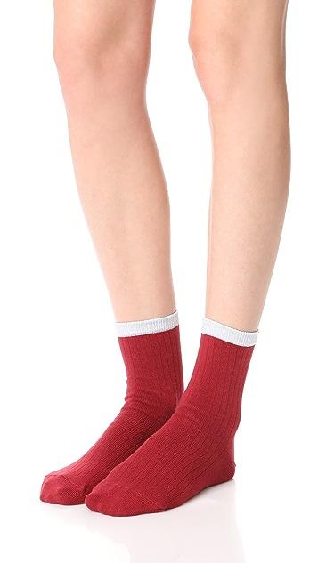 Liana Clothing Metallic Pipe Socks
