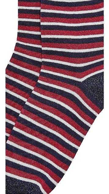 Liana Clothing Lurex Glitter Stria Socks