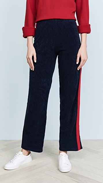 Liana Clothing The Terry Pants - Navy/Red