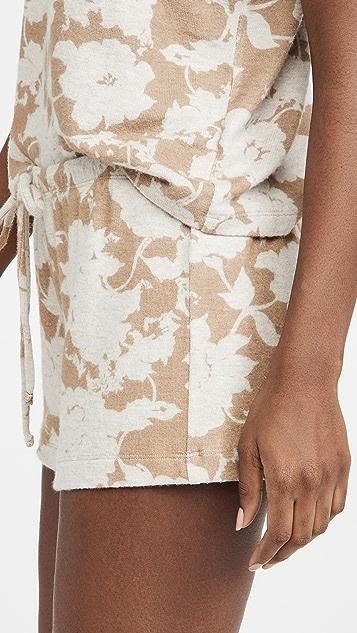 Leset Lori Floral Drawstring Shorts