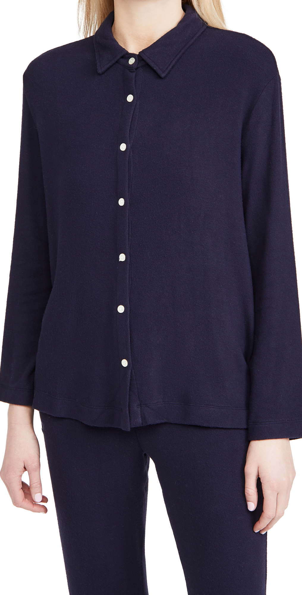 Leset Lori Knit Button Down Shirt