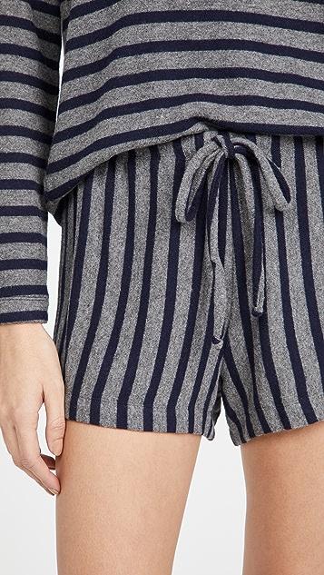 Leset Lori Stripe Drawstring Shorts