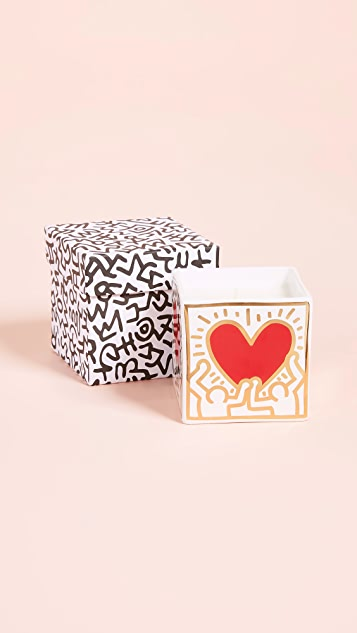 Ligne Blanche x Keith Haring Heart 方形香烛