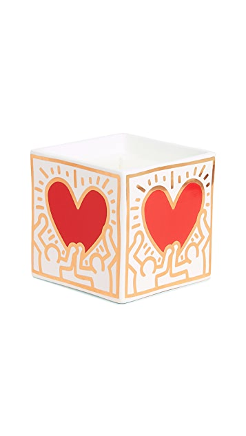 Ligne Blanche x Keith Haring Heart Square Candle