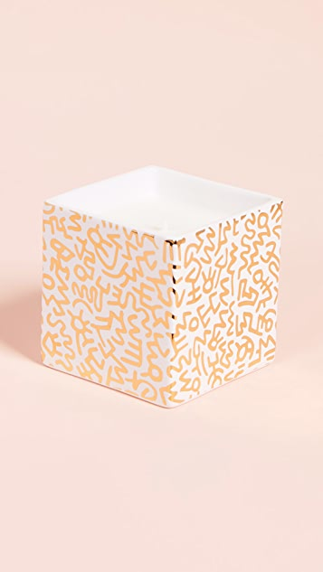 Ligne Blanche x Keith Haring Pattern Square Candle