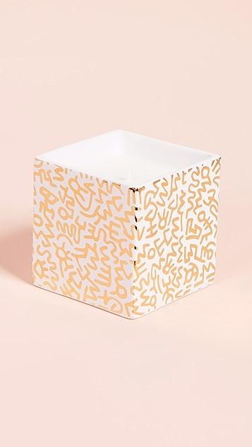 Ligne Blanche Квадратная свеча x Keith Haring с рисунком