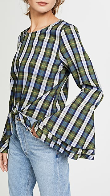 LIKELY Plaid Talcott Top