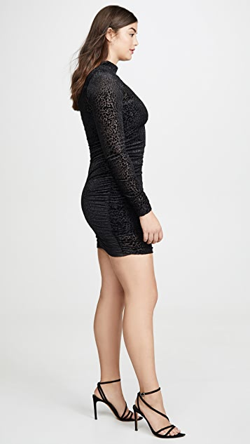 LIKELY Leopard Burnout Wylie Dress