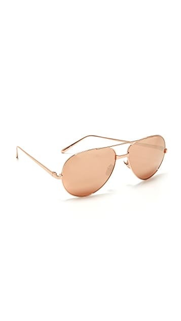 e2aa8b1c4a59 Linda Farrow Luxe 24k Rose Gold Sunglasses ...