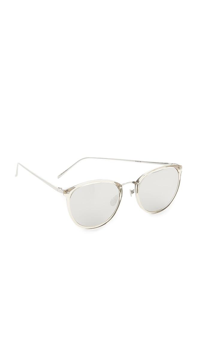 8d33cc96e86 Linda Farrow Luxe Round Mirrored Sunglasses