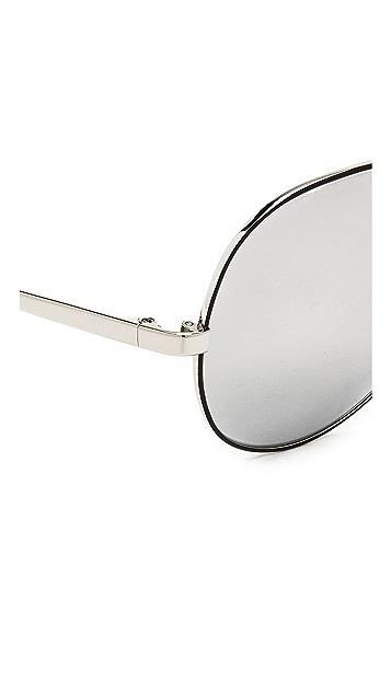 Linda Farrow Luxe Mirrored Aviator Sunglasses
