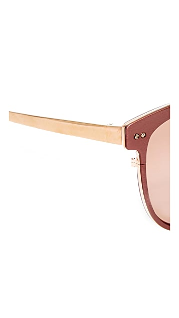 Linda Farrow Luxe Oversized Mirrored Sunglasses