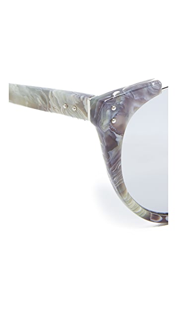 Linda Farrow Luxe Rimless Top Sunglasses