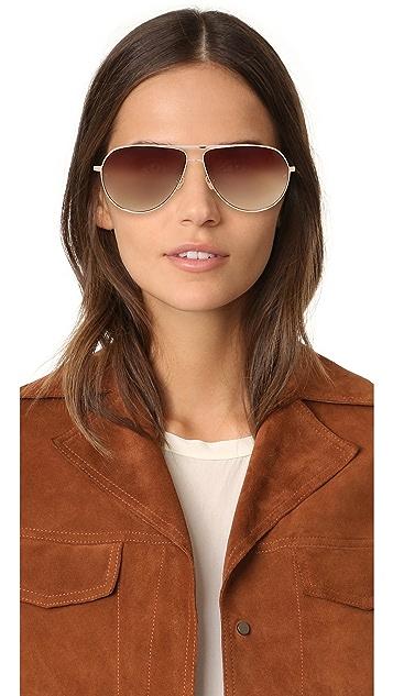 Linda Farrow Luxe Aviator Sunglasses
