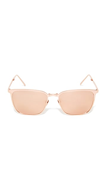 Linda Farrow Luxe Mirrored Square Sunglasses