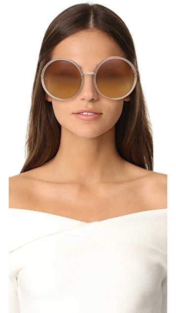 Linda Farrow Round oversized sunglasses
