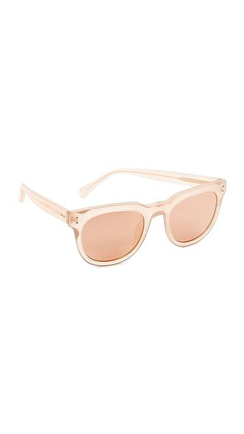 Linda Farrow Luxe Classic Stud Sunglasses