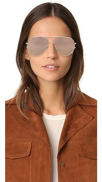 Linda Farrow Luxe Aviator Clip On Sunglasses