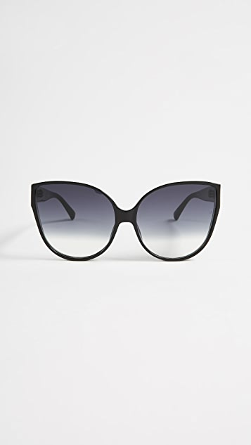 d38d96389ed0 Linda Farrow Luxe Oversized Cat Eye Sunglasses