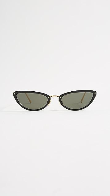 Linda Farrow Luxe Extreme Cat Eye Sunglasses