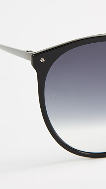 Linda Farrow Luxe Oversized Rounded Sunglasses