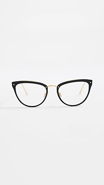 Linda Farrow Luxe Cat Eye Glasses