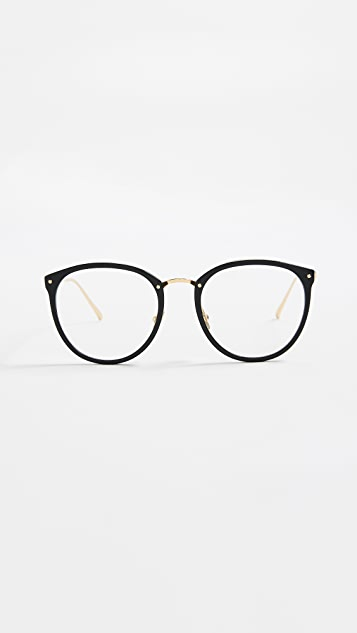 Linda Farrow Luxe Round Glasses