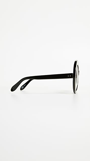Linda Farrow Luxe Oval Oversized Sunglasses