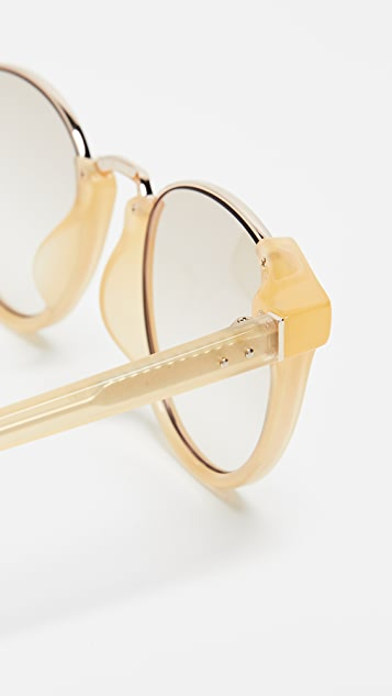 Linda Farrow Luxe Round Combo Sunglasses
