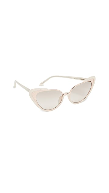Linda Farrow Luxe Extreme Cat Eye Sunglasses