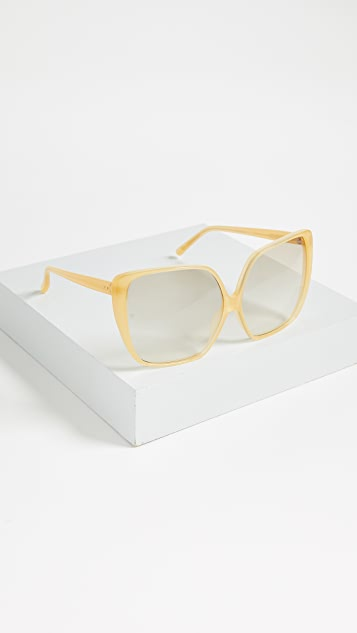 Linda Farrow Luxe Oversized Square Sunglasses
