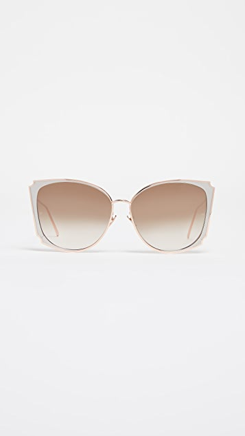 Linda Farrow Luxe Butterfly Sunglasses