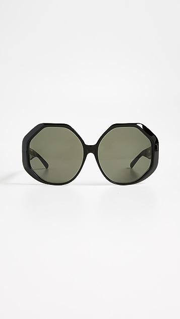 Linda Farrow Luxe Oversized Geometric Sunglasses