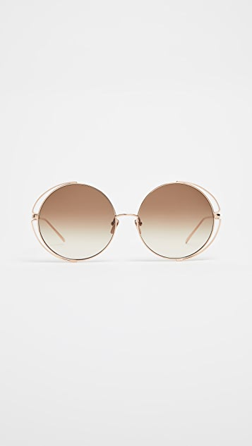 c5a8d495962 Linda Farrow Luxe. Double Frame Round Sunglasses. Add to My Designers