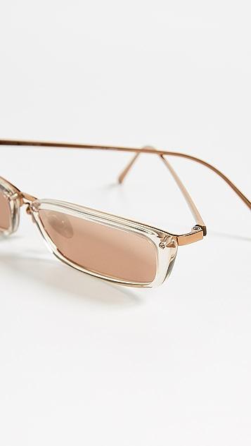 Linda Farrow Luxe Узкие прямоугольные солнцезащитные очки